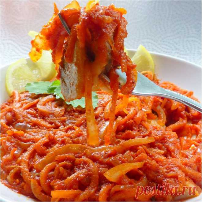 Закуска из сельди с луком и морковью