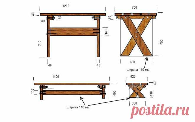 Bench in an arbor from a tree drawings — the Life WORKSHOP
