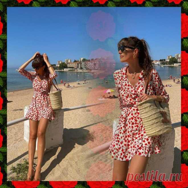 Жюли Феррери в красивом летнем платье на пляже   Вокруг интернета   Яндекс Дзен