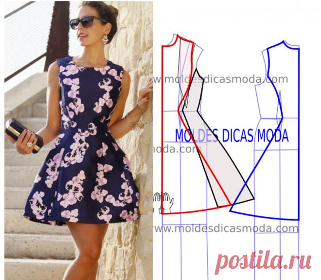 98f3e8340 Vestido de moda passo a passo - Moldes dicas moda Esta publicação ...