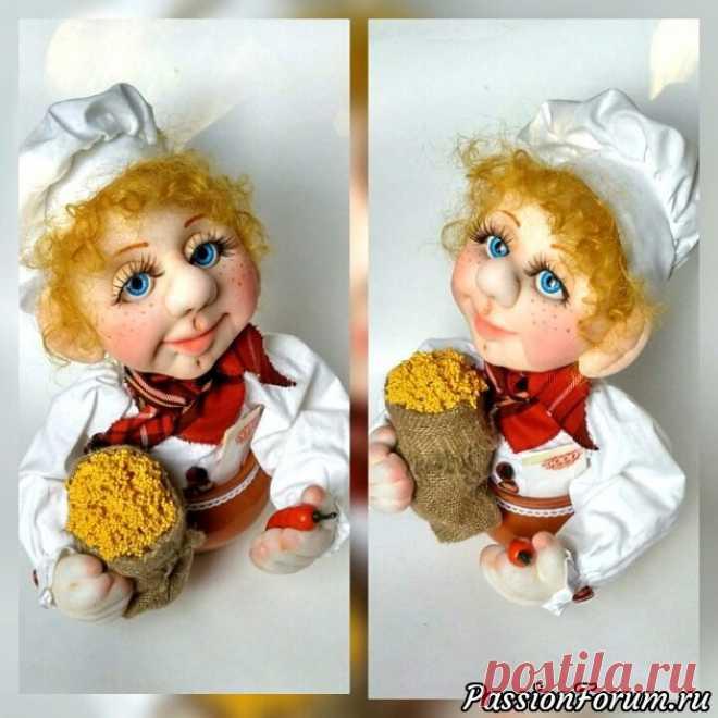 Шеф-повар (чулочная кукла)