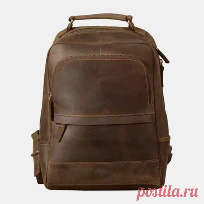 Men Vintage Light Weight Large Capacity Travel Backpack - US$69.99