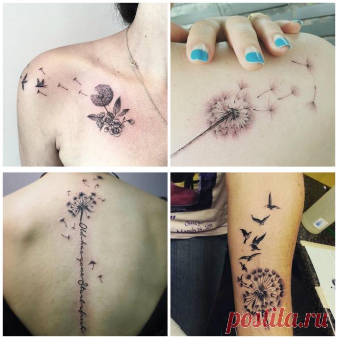 Diente De Leon Tatuaje Lindos Tatuajes De Dientes De Leon Para