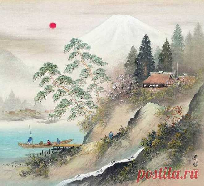 Пейзажи японского художника Коукеи Кодзима | Start Here | Яндекс Дзен