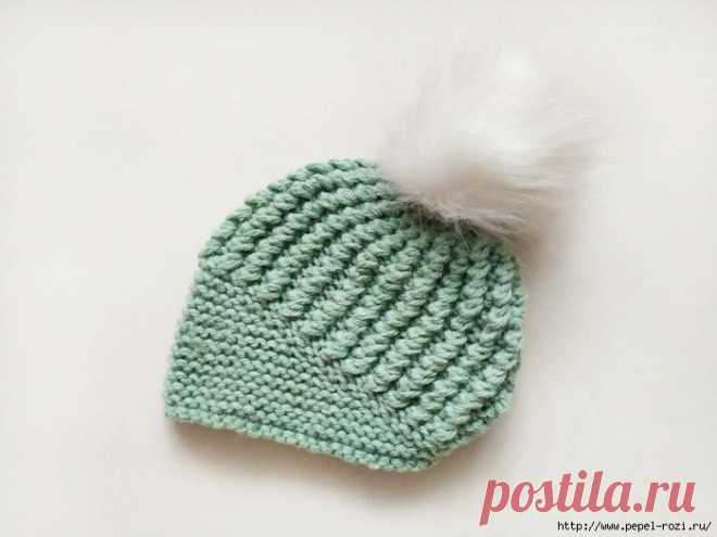 И шапка, и берет - вяжем очень интересную модель спицами