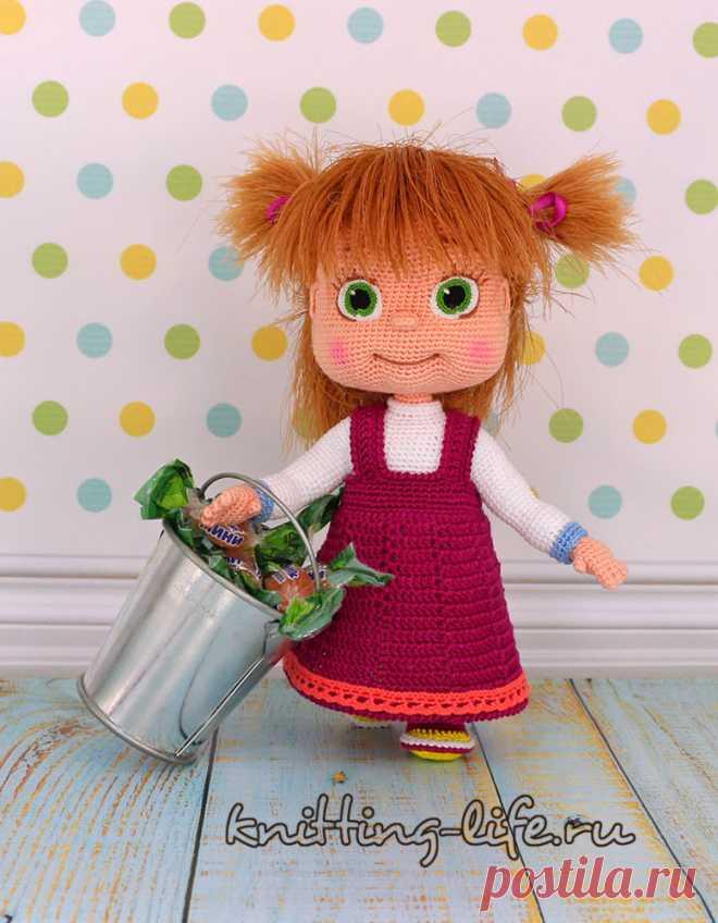 Мастер-класс по вязанию крючком - Куколки - Вязаная жизнь | игрушки Кукла Маша. Машенька. Вязаная игрушка крючком. #маша #машенька #кукламаша #Вязанаяигрушкакрючком. #Вязанаяигрушка. #Вязанаякуклакрючком. #кукла. #куколка. #вязание. #вязанаякуколка. #вязанаяжизнь. #вязанаякраснаяшапочка. #амигурумиигрушка. #амигурумикукла. #амигурумикуколка. #мастерклассповязаниюкрючком