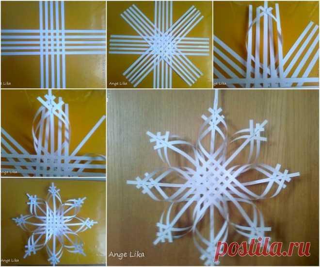 красивые объёмные снежинки из бумаги схемы