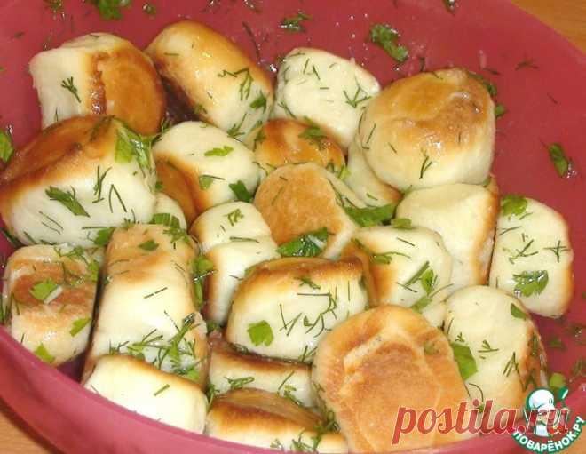 Балабушки с чесноком по-Полтавски – кулинарный рецепт