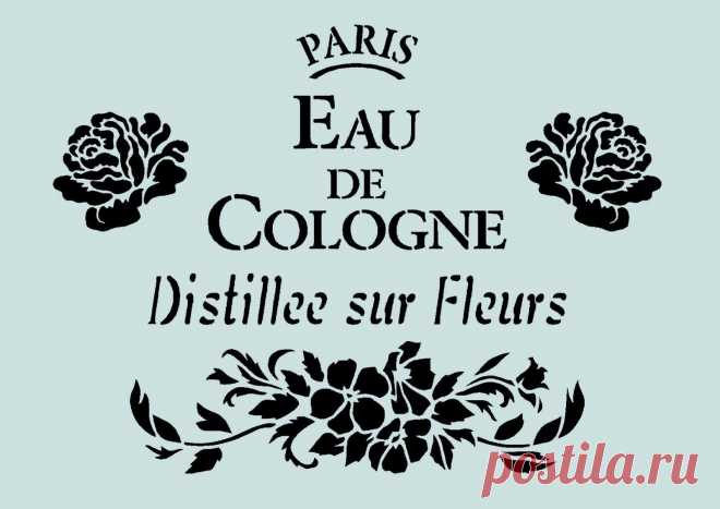Schablone** - French,Vintage - **A4****für Stoffe, Möbel usw.- ** Nr.: 952   eBay