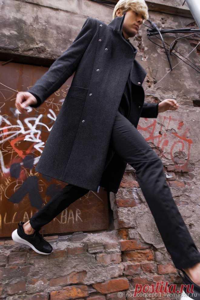 Верхняя одежда мужская: Пальто M.R.m чёрное – купить на Ярмарке Мастеров – I2FI1RU   Верхняя одежда мужская, Санкт-Петербург