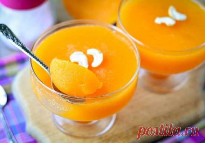 Желе из тыквы с апельсином