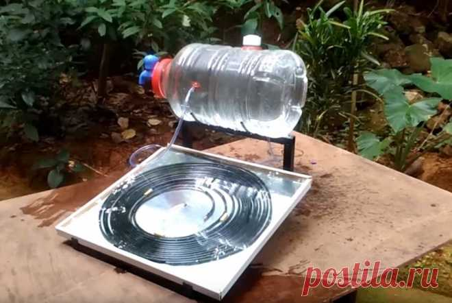 Сделал бесплатную горячую воду из бутылки и медной трубки без электричества. Показываю процесс изготовления умывальника   Батины лайфхаки   Яндекс Дзен