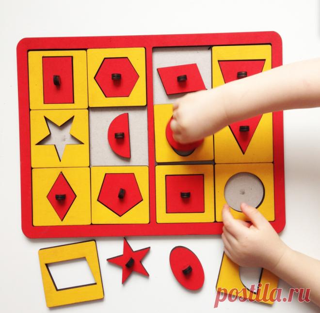 «Веселый поезд» - знакомим ребенка с формами | Игры с детьми от года до семи | Яндекс Дзен