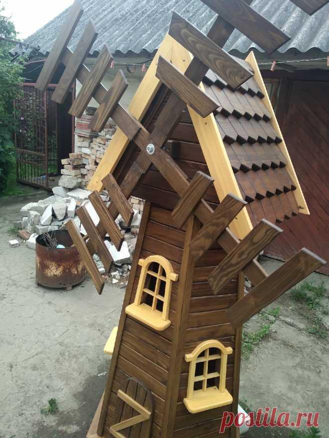 Декоративные мельницы из дерева | Для тех, кто любит работать с деревом