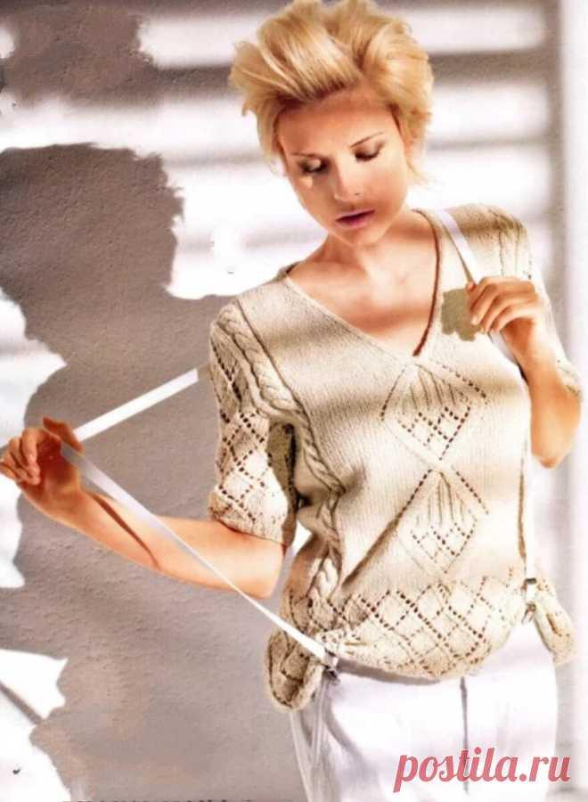 Спицами для лета.11 летних пуловеров | Волшебные спицы | Яндекс Дзен