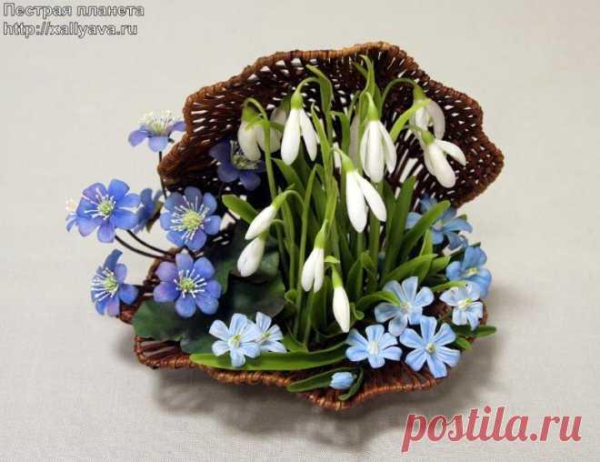 Arts and crafts. Polymeric floristics. 79 photos