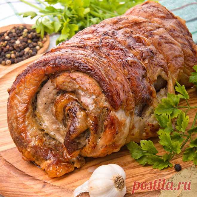 Рулет из грудинки с итальянскими травами - Закуски и салаты - Рецепты для мультиварки - LUMME - Бытовая техника для каждого дома
