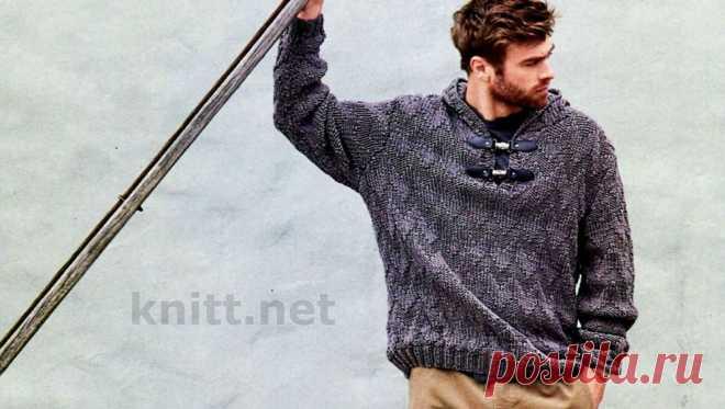 Вязание мужского пуловера с капюшоном Вязание мужского пуловера с капюшоном. Нет ничего хуже, чем промозглая осенняя погода! На выручку придет широкий пуловер с капюшоном.