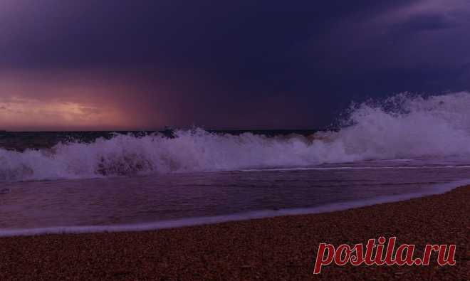 the storm calms down