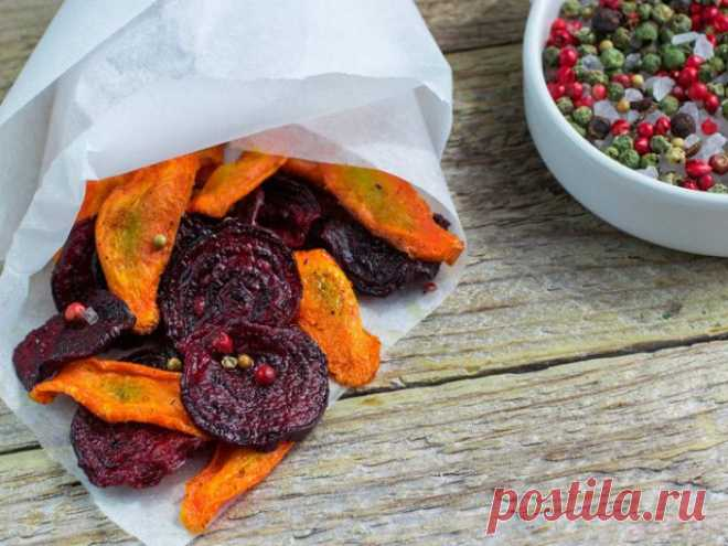 Полезные и вкусные овощные чипсы – похрустите всей семьей!