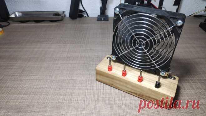 Дымоуловитель с комбинированным источником питания В этой статье мастер расскажет нам, как он сделал экстрактор дыма с комбинированным источником питания. Питание вентилятора и модуля питания осуществляется от внешнего блока питания, который подключен к сетевой розетке. На передней панели имеются разъёмы для входных клемм 12 В, 5 В, 3,3 В и