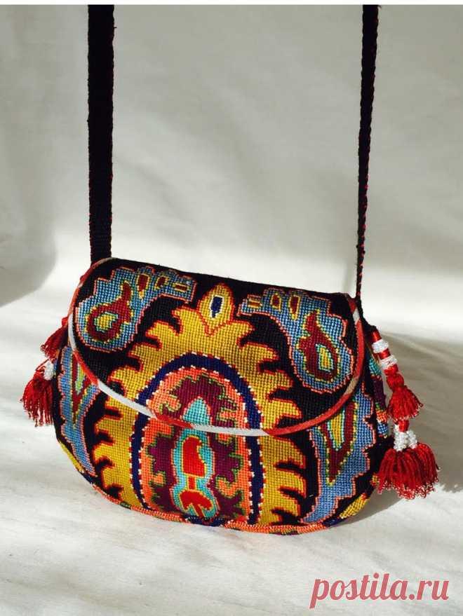 Embroidered Crossbody Purse Handbag Small Tribal Silk Petit | Etsy