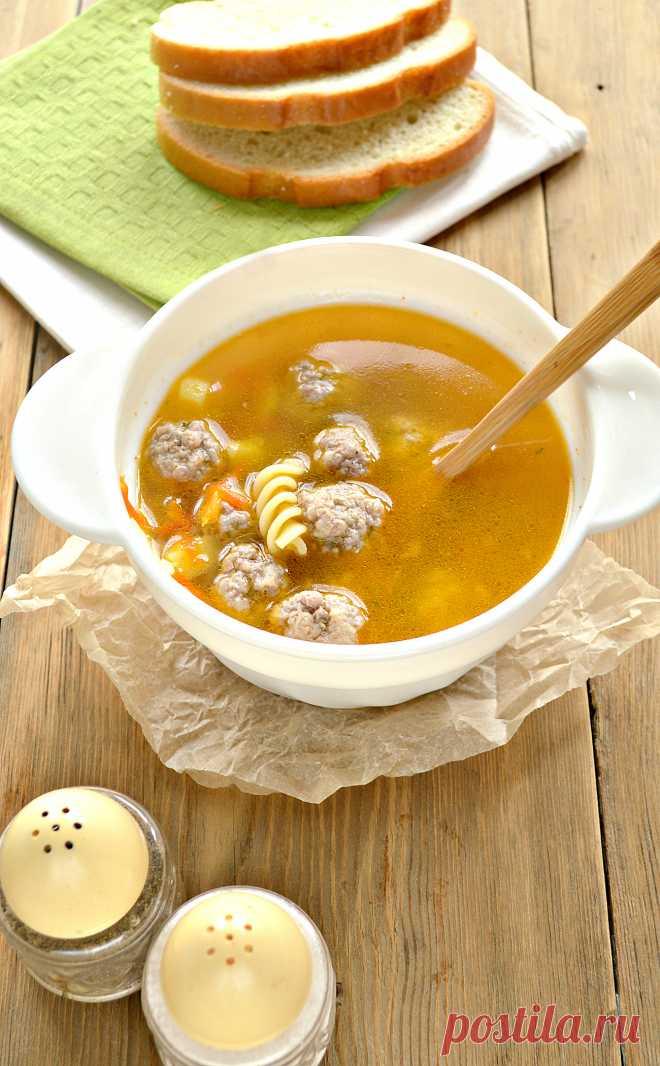 Суп с фрикадельками из самых простых продуктов
