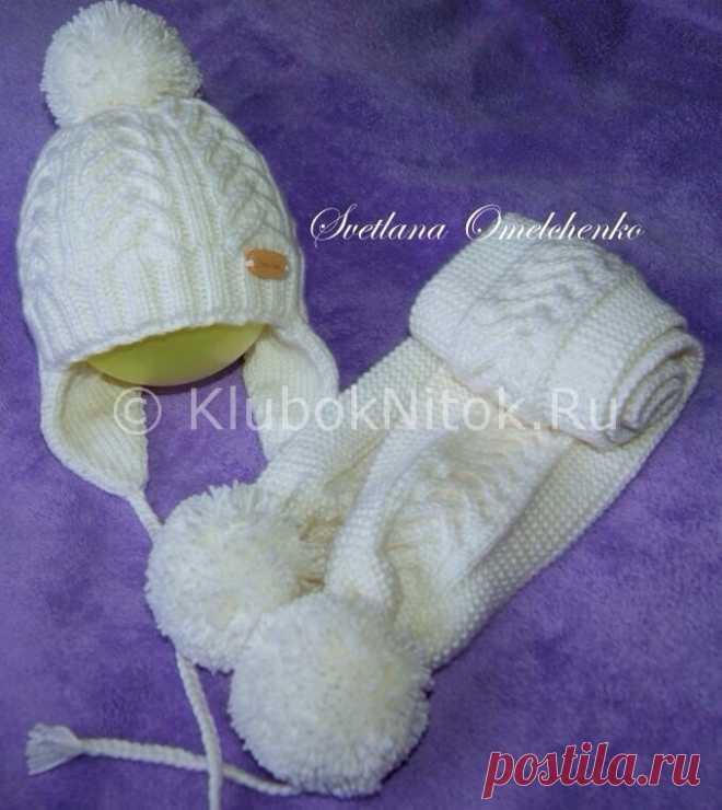шапочка и шарф от светланы омельченко вязание для девочек