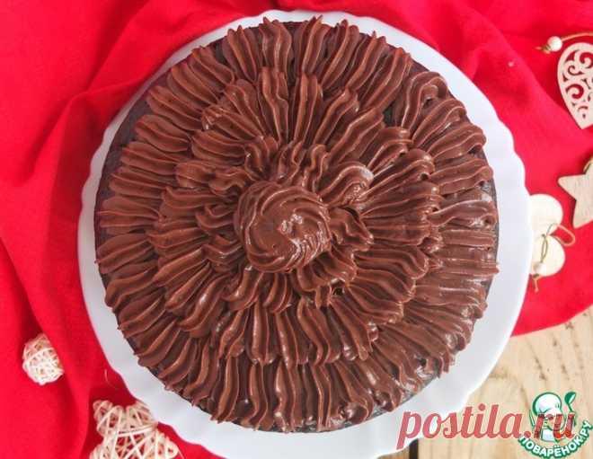 Шоколадный торт с шоколадным кремом – кулинарный рецепт