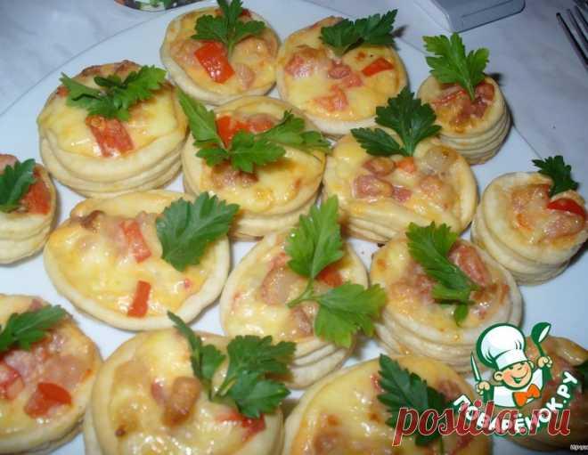 Тарталетки с сыром и беконом – кулинарный рецепт