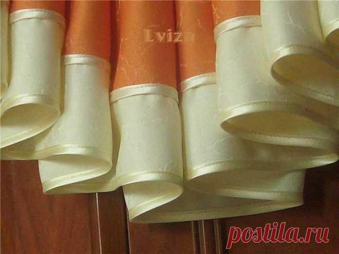 Способы обработки косого среза в элементах декора штор.