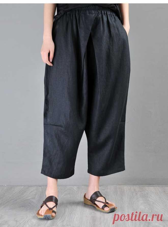 Women cropped pants Black harem pants Women's pants   Etsy
