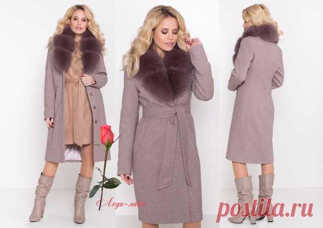 Классическое женское теплое пальто с натуральным мехом М-8489: продажа, цена в Харькове. пальто женские от