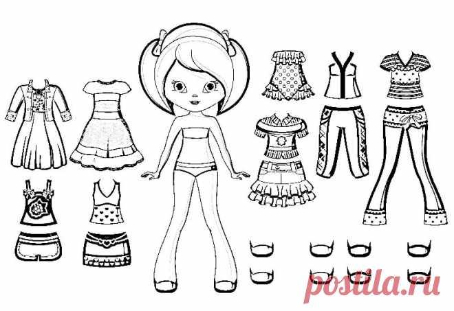 бумажные куклы с одеждой для вырезания распечатать и ...