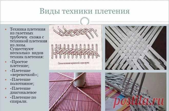 Плетение из газетных трубочек для начинающих: техника плетения и окраски
