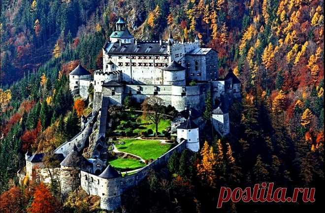 Замок Хоэнверфен, страж Зальцбурга .Австрия.