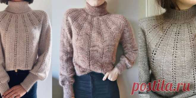 Женский свитер спицами Fern (Bregne) - Вяжи.ру