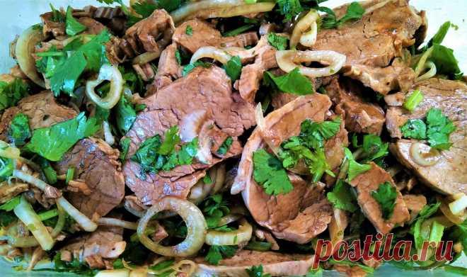 Холодная закуска из маринованного мяса с луком и зеленью | Поделки, рукоделки, рецепты | Яндекс Дзен