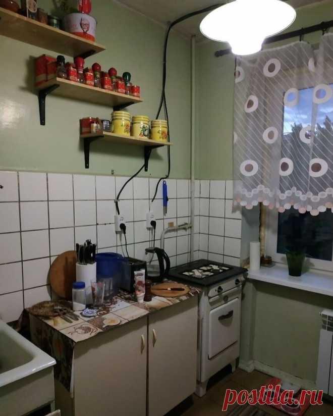 Очень грамотный ремонт хрущёвской кухни 5 кв.м. Пожалуй, лучший среди тех, что я видела. Сделала бы себе такой же без раздумий | PROремонт | Яндекс Дзен