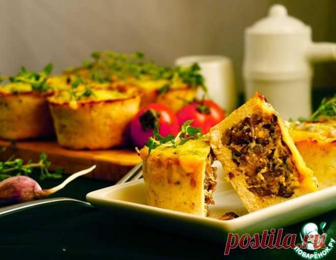 Куриные корзиночки с грибной начинкой – кулинарный рецепт