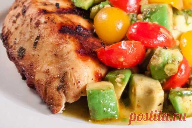 Курица маринованная в кефире, с картофелем и чесноком в духовке. - Шеф Кухни