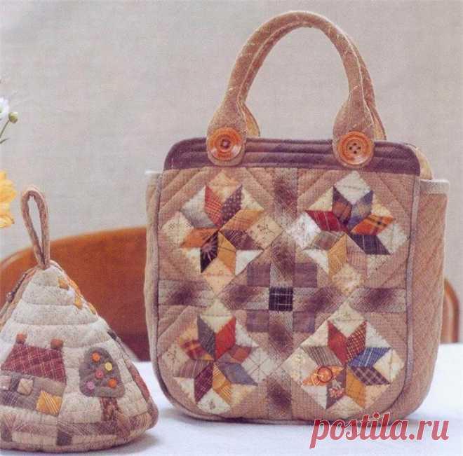 Лоскутные сумки в стиле пэчворк