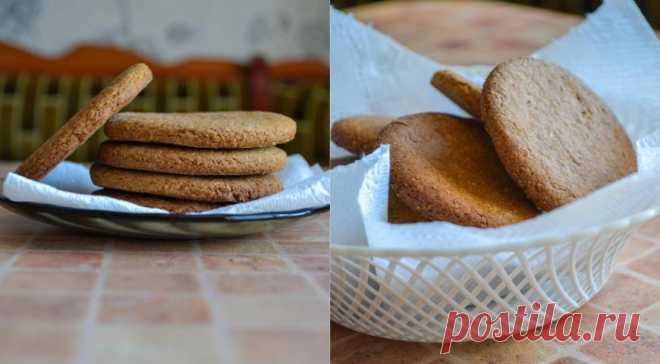 Овсяное печенье из цельнозерновой муки, пошаговый рецепт с фото