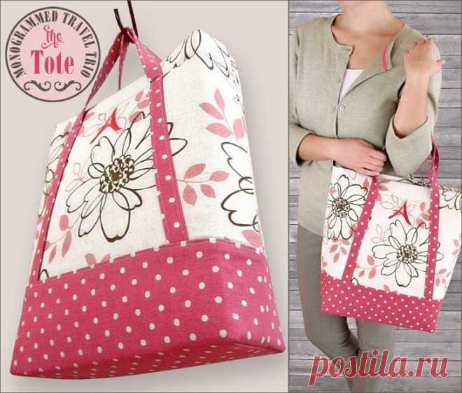 7220ed7ad6d8 Как сшить сумку из ткани своими руками (Шитье и крой) — Журнал Вдохновение  Рукодельницы