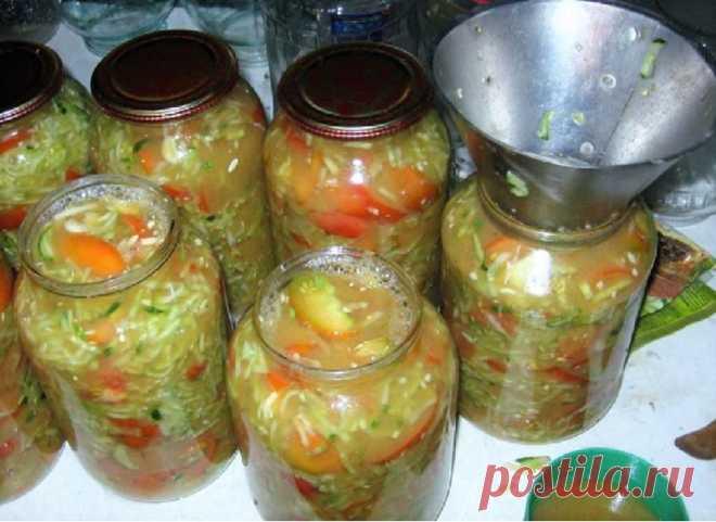Простые и очень вкусные салаты на зиму.