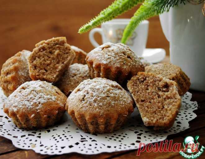 Ореховые кексы к чаю – кулинарный рецепт