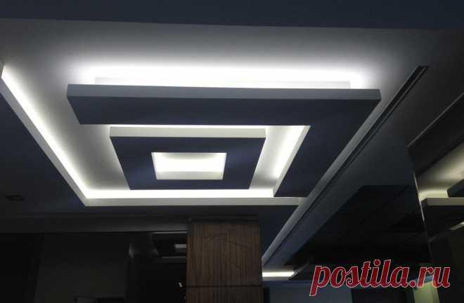 Как самому сделать светодиодную подсветку потолка
