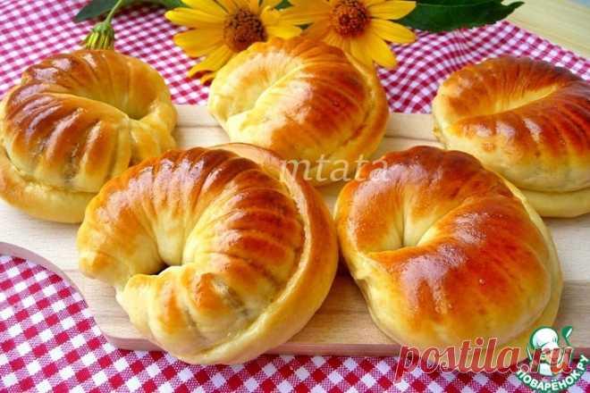 Сдобные булочки с ореховой начинкой Кулинарный рецепт