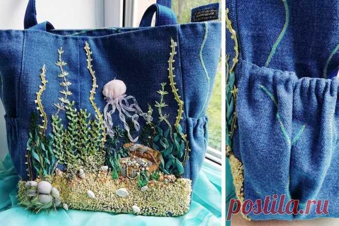 Сшить просто сумку не интересно, а придумать и воплотить декор… это захватывает! | Подушкины секреты | Яндекс Дзен