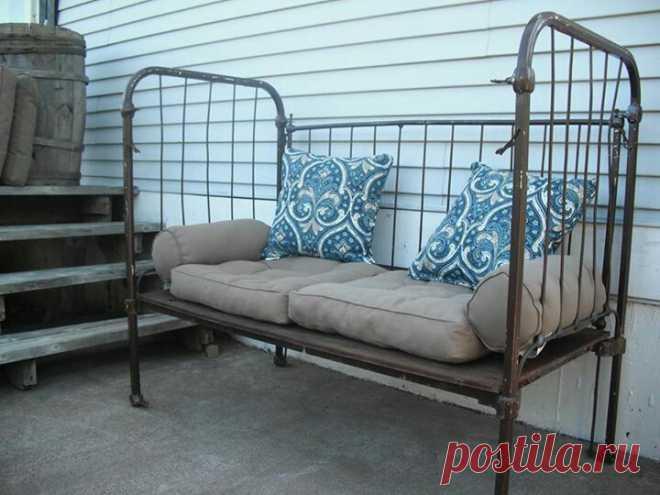 5 идей полезного применения старой железной кровати - Журнал